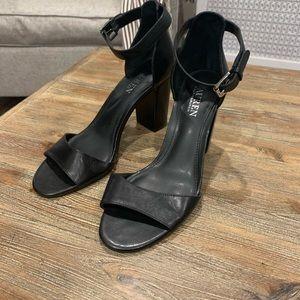Lauren Ralph Lauren Tacey Black Heel Sz 7.5